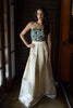 Ayla Champagne Ball Gown Skirt - Saule Boutique  - 4