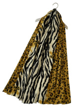 Load image into Gallery viewer, LEOPARD AND ZEBRA PRINT SCARF