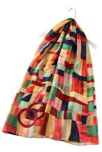 Load image into Gallery viewer, COLOUR BLOCK 100% SILK GIFT BOXED SCARF
