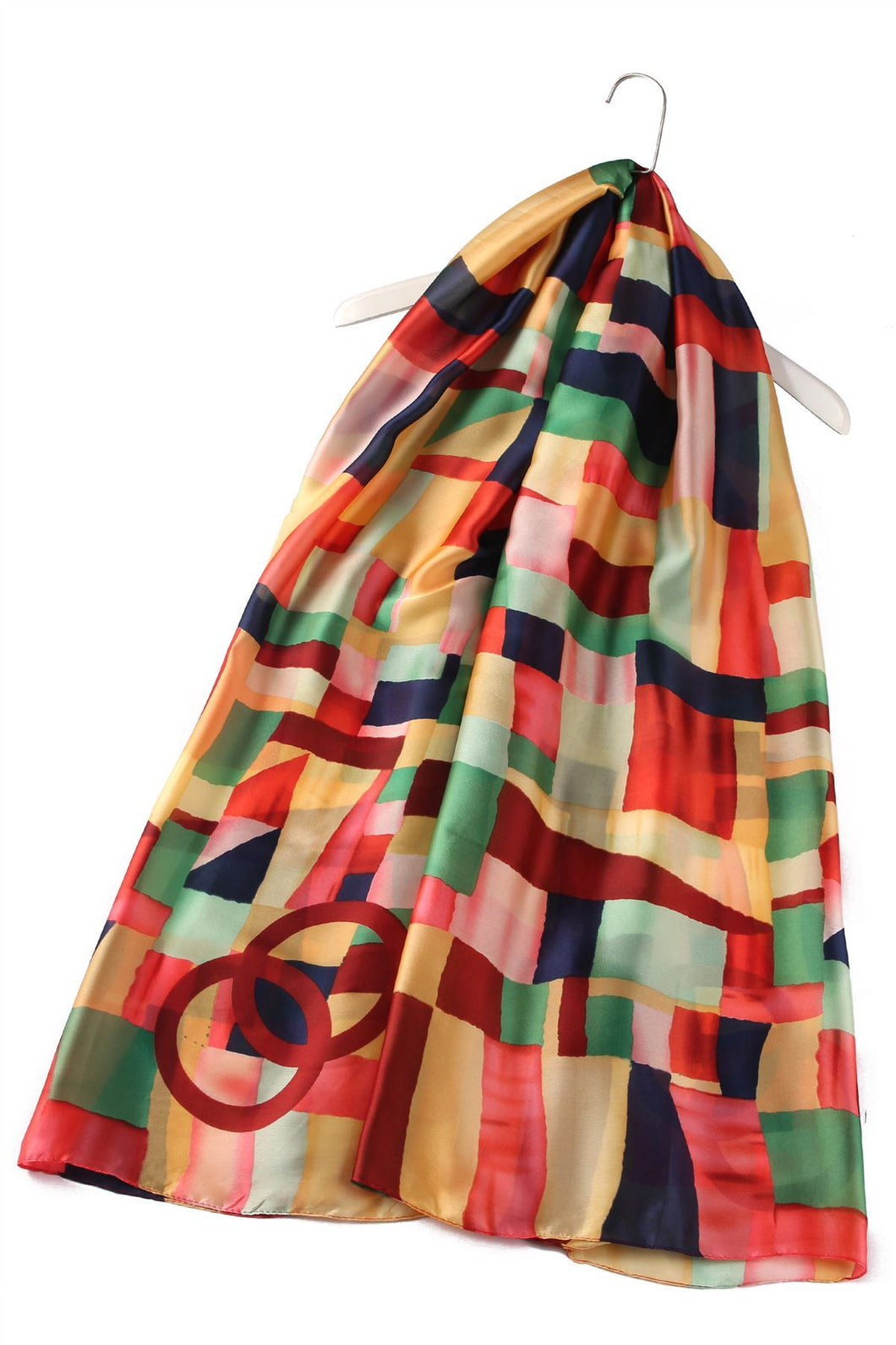 COLOUR BLOCK 100% SILK GIFT BOXED SCARF