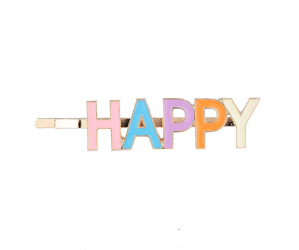 CANDY COLOURED HAPPY HAIR SLIDE