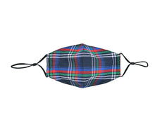 Load image into Gallery viewer, NAVY TARTAN FACE MASK