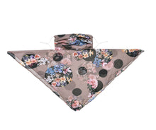 Load image into Gallery viewer, POLKA DOT FLORAL SCARF MASK
