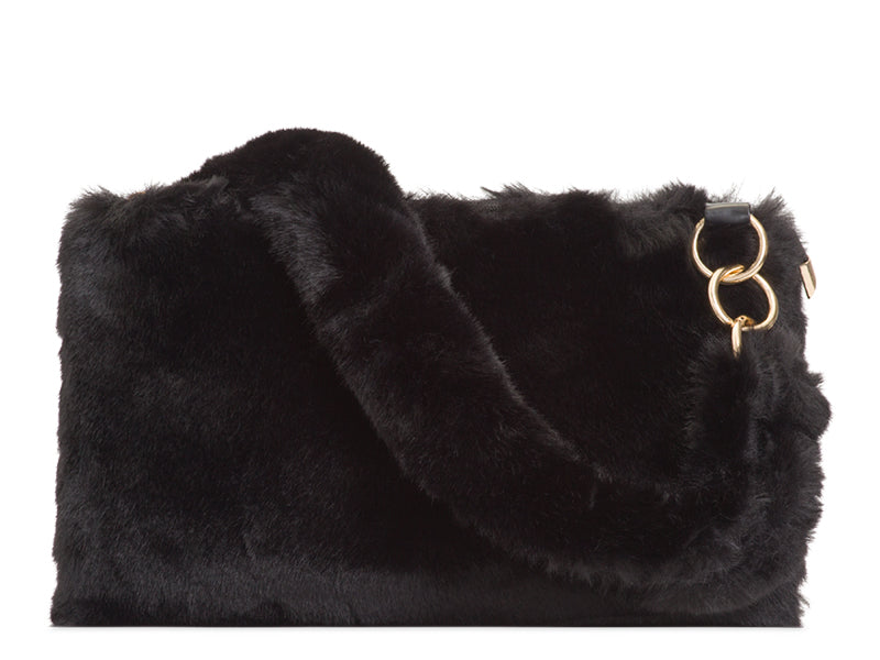 SUPER SOFT FAUX FUR SHOULDER BAG CHOOSE FROM BLACK, BURGUNDY, GREY, KHAKI OR PINK