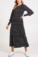 Load image into Gallery viewer, POLKA DOT LONG SLEEVE SMOCK DRESS