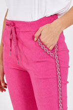 Load image into Gallery viewer, SPARKLE EMBROIDERED MAGIC TROUSERS CHOOSE FROM HOT PINK, TURQUOISE, BLUE OR BLACK