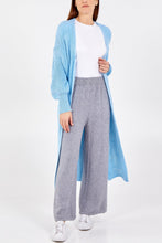 Load image into Gallery viewer, SKY BLUE LONG LINE CARDIGAN