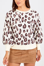 Load image into Gallery viewer, LEOPARD PRINT BALLOON SLEEVE JUMPER