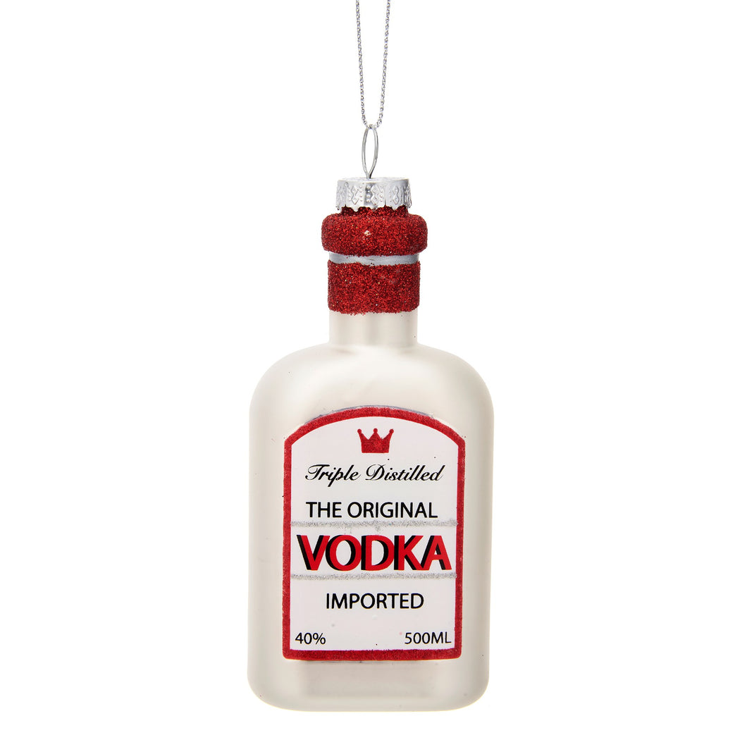 CHRISTMAS CHEER VODKA SHAPED BAUBLE