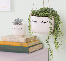Load image into Gallery viewer, EYES SHUT HANGING PLANTER