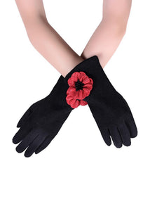 POPPY BOXED GLOVES CHOOSE FROM BLACK, GREY, WINE, BLUE OR MUSTARD