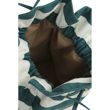 Load image into Gallery viewer, GREEN STRIPE BUCKET BAG