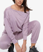 Load image into Gallery viewer, PURPLE OFF SHOULDER LOUNGE SET