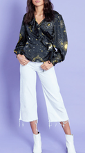 Load image into Gallery viewer, SUN AND MOON SATIN WRAP TOP