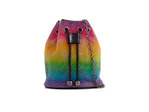 DIAMANTÉ RAINBOW DRAWSTRING BAG