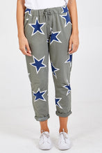 Load image into Gallery viewer, KHAKI STAR PRINT JOGGERS