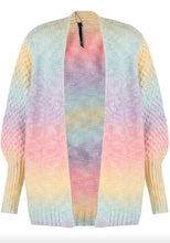 Load image into Gallery viewer, PASTEL KNIT RAINBOW FITTED SLEEVE CARDIGAN