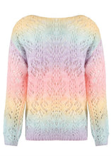 Load image into Gallery viewer, LACE TRIM PASTEL VINTAGE KNIT JUMPER