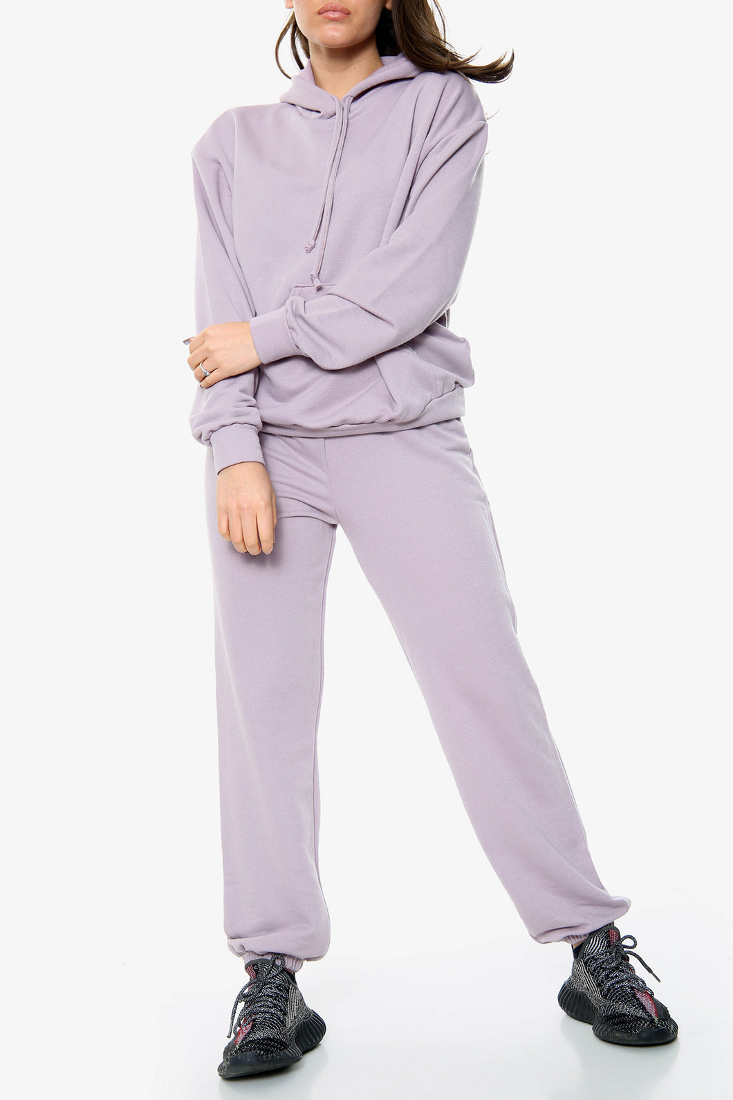 PURPLE OVERSIZED HOODIE AND JOGGERS SET