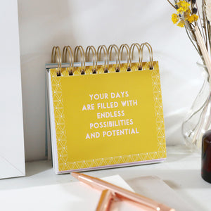 POSITIVE AFFIRMATIONS DESKTOP FLIP BOOK
