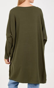 STAR LONG SLEEVED TOP GREEN