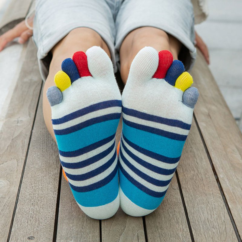 Breathable  Cotton Toe Socks