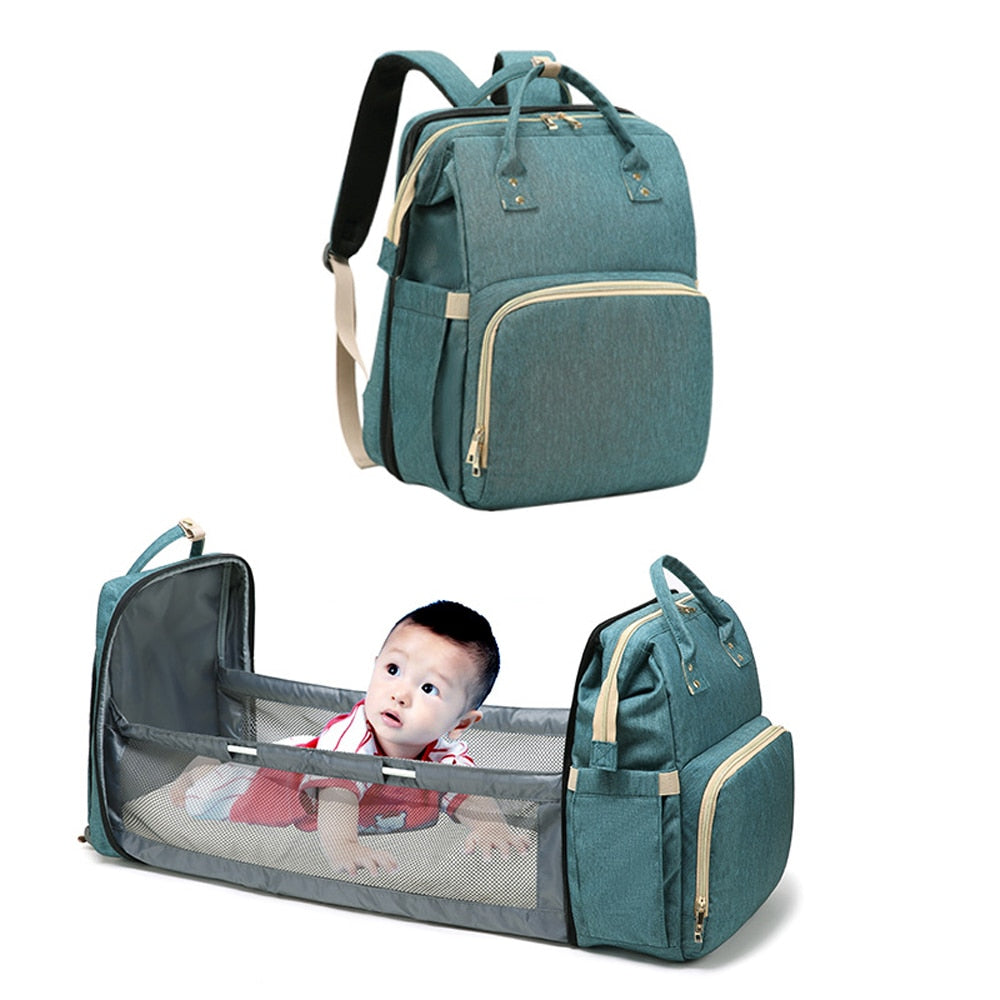 Moses™ 2020 2-In-1 Multifunctional Travel Mommy Bag & Crib