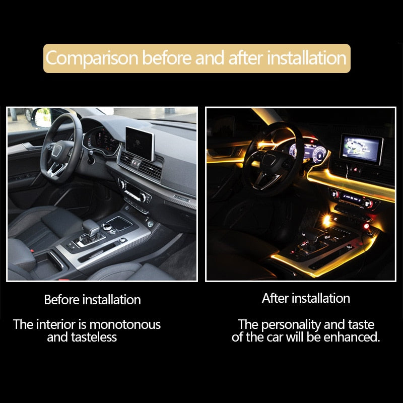 LED car atmosphere lights