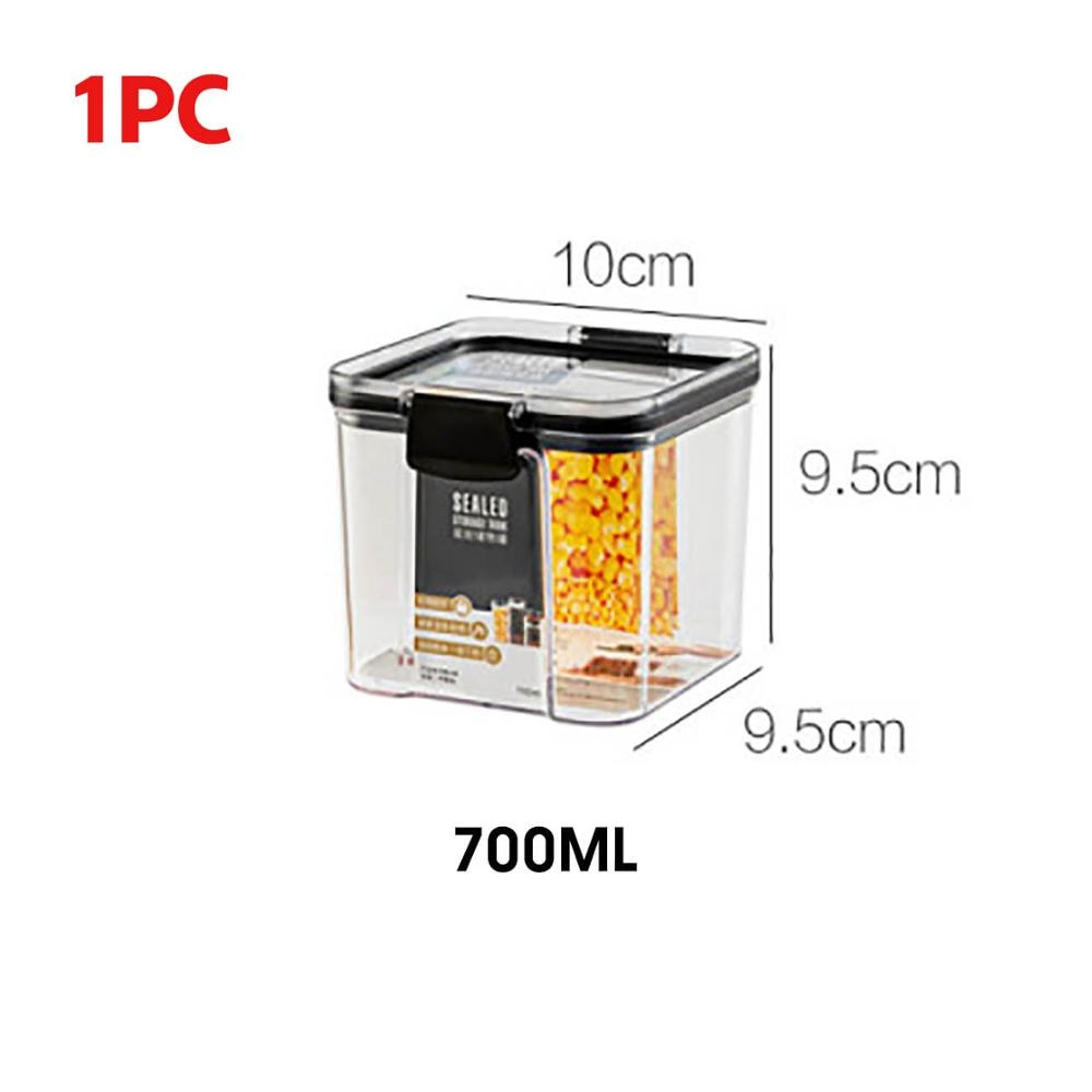 Moody™ Food Storage Container 700/1300/1800ML - Plastic Kitchen Refrigerator Noodle Box Multigrain Storage Tank Transparent Sealed Cans