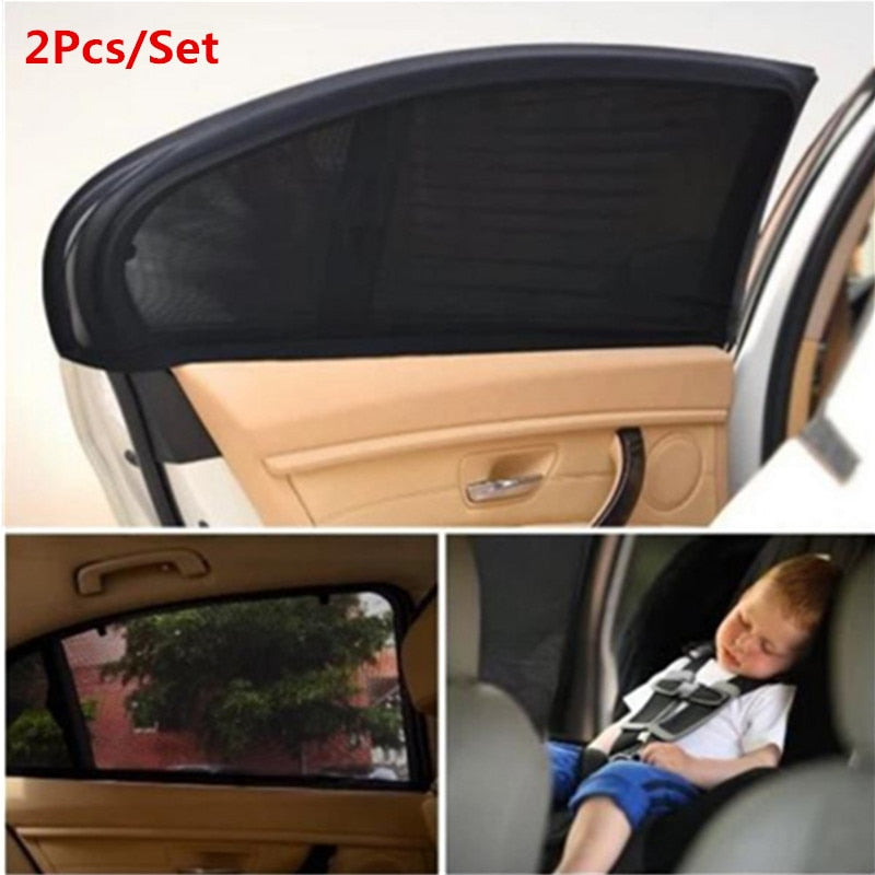 2Pc Car Sunshade Curtain Auto Window Cover