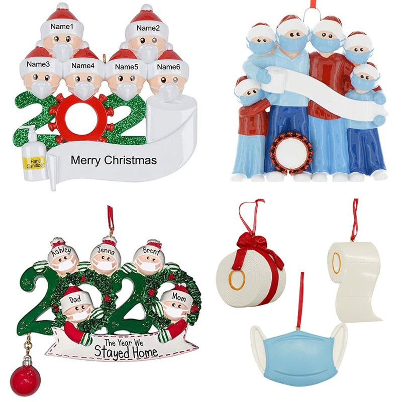2021 Quarantine Christmas Birthdays Party Personalized Hanging Ornament
