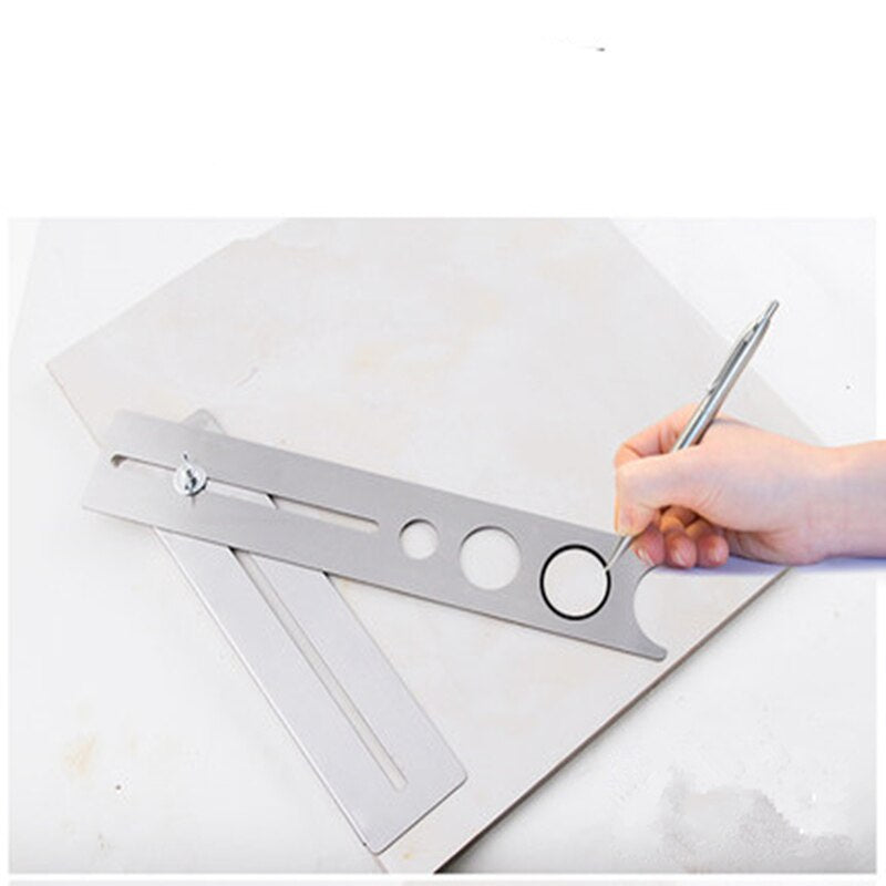 New adjustable Tile Locator to Wall Marking Position Ruler ceramic hole cutter tile drill Marble Opener construction tool