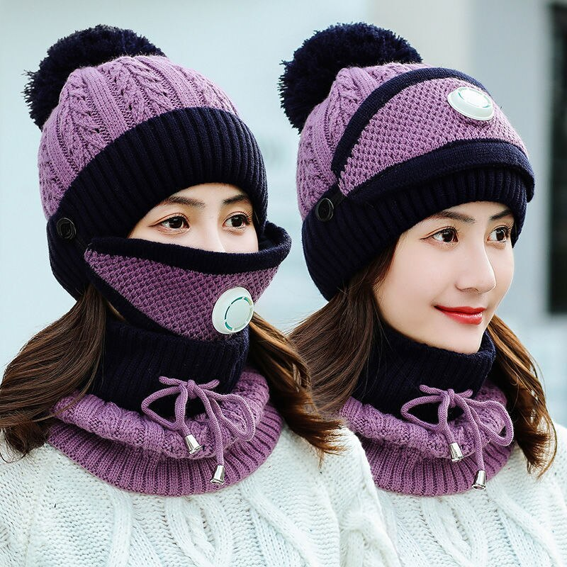 Moody™️ Crochet Hat Scarf and Mask Set