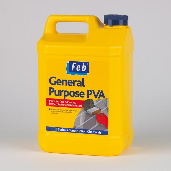 Adhesive - Feb General Purpose PVA - 5 Ltr