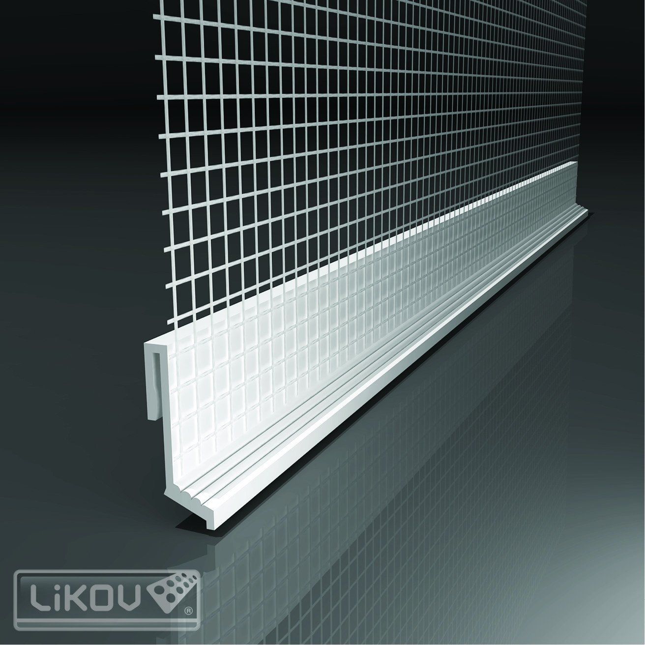 Drip Ledge mesh for External Wall Insulation Base Profiles - Clip On