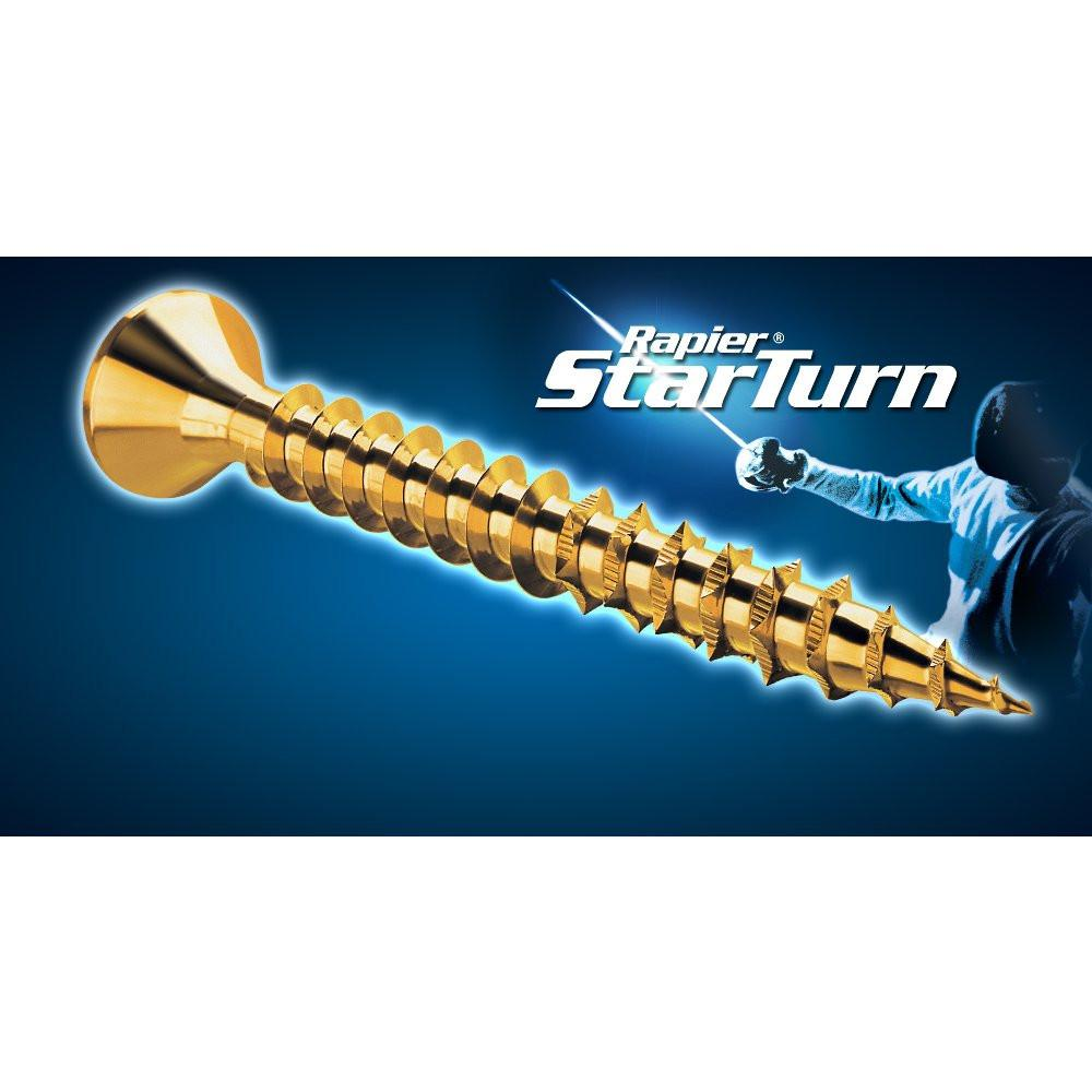 GENERALMAT - StarTurn CSK Pozi Woodscrew Fully Threaded Zinc - Box Qty 200