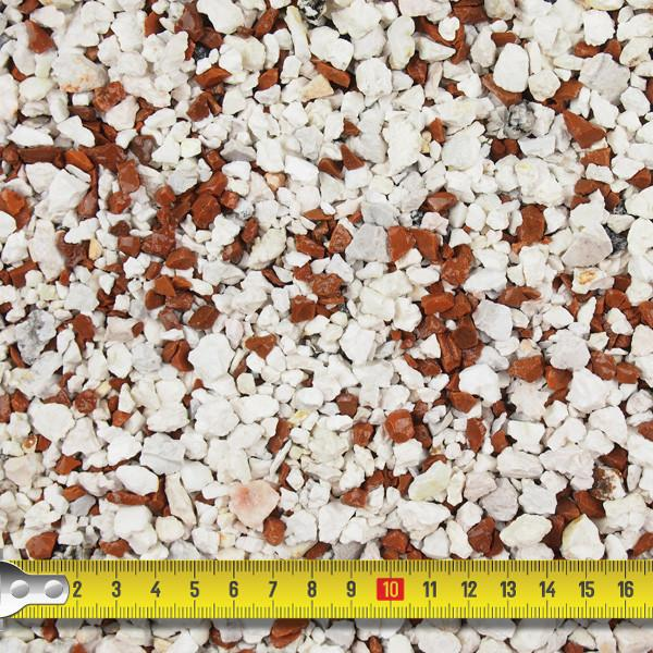 Pebble Dash - Red And White Flint Pebble Dash 3-8mm - 25kg