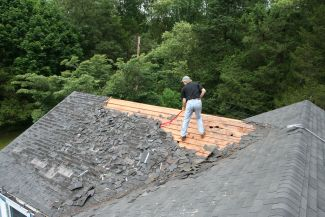 stripping shingles roof