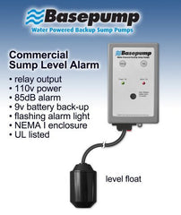 water operated sump pump alarm