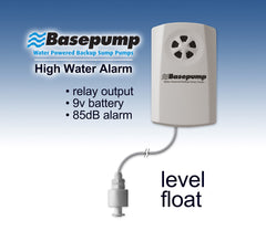 water powered backup sump pump alarm