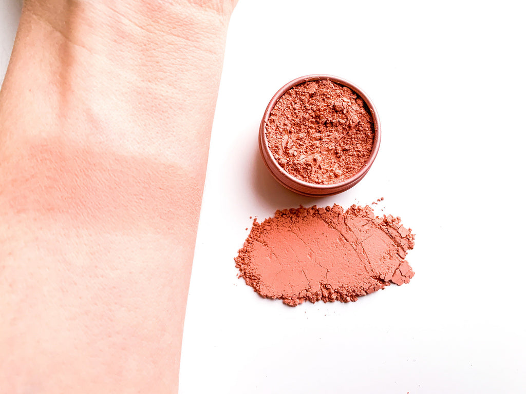 red powder blush