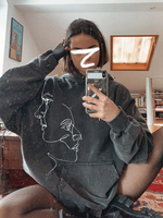Abstract Print Hoodie