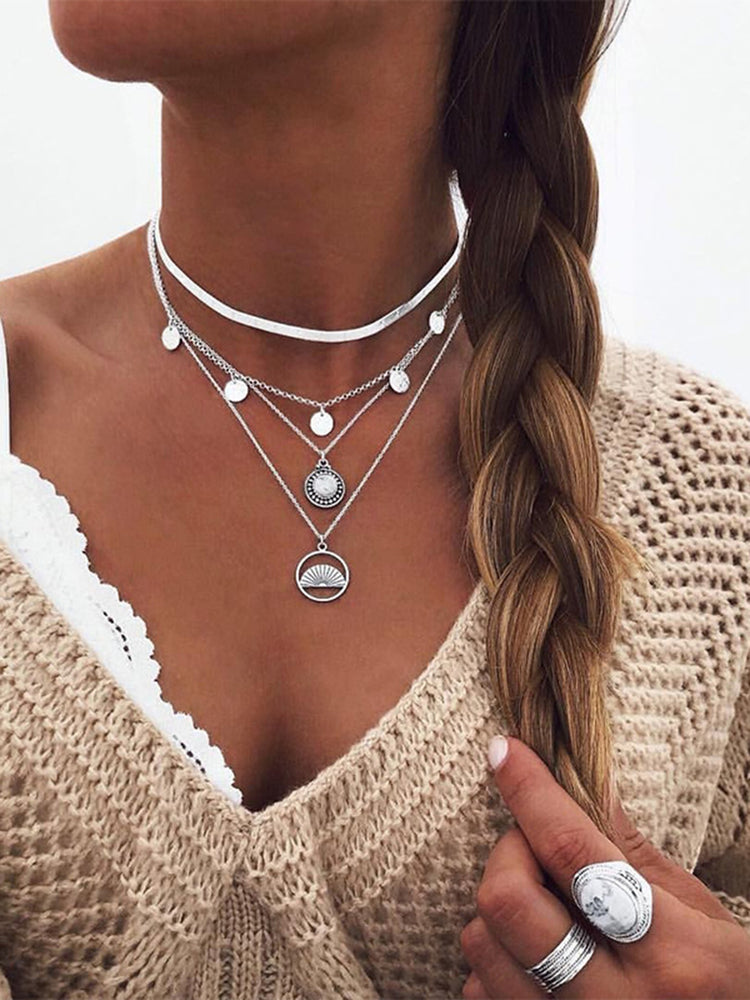 Alloy Boho Women Necklaces