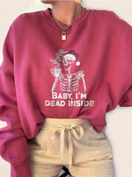 Halloween Embroidery Casual Sweatshirt