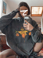 Halloween Printed Casual Hooded Sweater