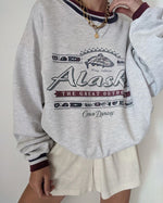 Gray Cotton Letter Crew Neck Casual Sweatshirt