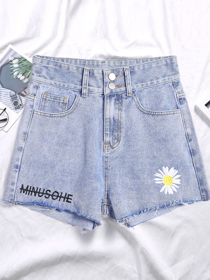 Daisy Shift Casual Short Jeans