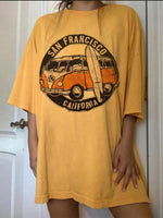 Yellow Shift Crew Neck Casual Short Sleeve Shirts & Tops