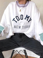 Tommy White Casual Cotton Sweatshirt