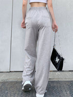 Gray Shift Cotton Casual Pants
